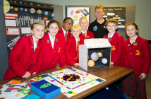 Tim Peake with budding young sapace explorers