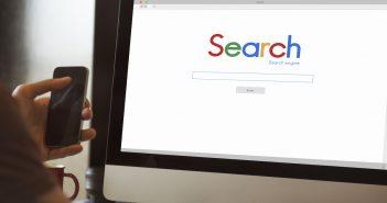 Searching online via desktop pc